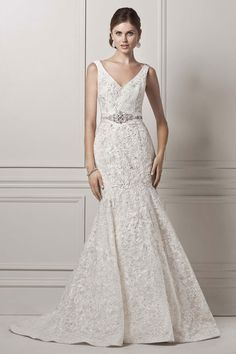 Wedding gown by Oleg Cassini at David's Bridal