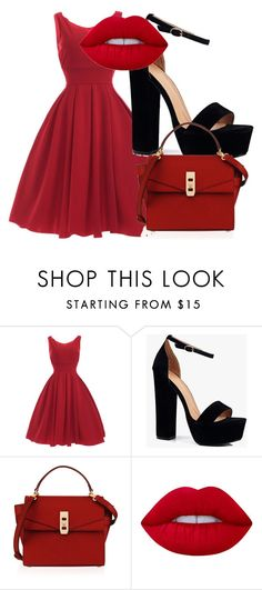 """""""Untitled #1"""" by sydneyoo on Polyvore featuring Boohoo, Henri Bendel and Lime Crime"""
