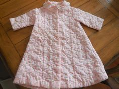 Size 2 3 Vintage Girl flower Quilted Robe Mid by LittleMarin