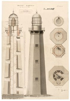Framed Illustration from the records of U.S. Coast Guard, U.S. National Archives Lighthouse at Montauk Point, Long Island, NY from the NYT store