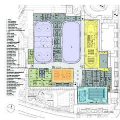 Cassie Campbell Community Centre / Perkins+Will,ground floor Bubble Diagram Architecture, Public Architecture, Architecture Design, Composite Cladding, Clubhouse Design, Sport Hall, Sports Complex, Building A Pool, Sports Clubs