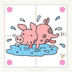 Creative Activities For Kids, Animal Activities, Preschool Learning Activities, Preschool Curriculum, Book Activities, Preschool Activities, Kids Learning, Farm Animals Preschool, Animal Puzzle