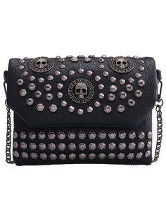 Shop Black With Studded Skull Shoulder Bag online. SheIn offers Black With Studded Skull Shoulder Bag & more to fit your fashionable needs.