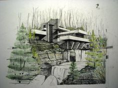 Fallingwater House 2 by Fremenul on deviantART