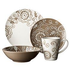 Euro Ceramica Fluer 16 pc Dinnerware set I really need these~