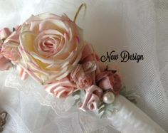 Items similar to Wedding gown hanger. on Etsy Shabby Chic Fabric, Shabby Chic Crafts, Burlap Crafts, Fabric Crafts, Craft Gifts, Diy Gifts, Padded Coat Hangers, Wire Hanger Crafts, Wedding Dress Hanger