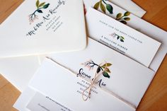 Oh So Beautiful Paper: Jenna + Asa's Floral Wedding Invitations from Rifle Paper Co.