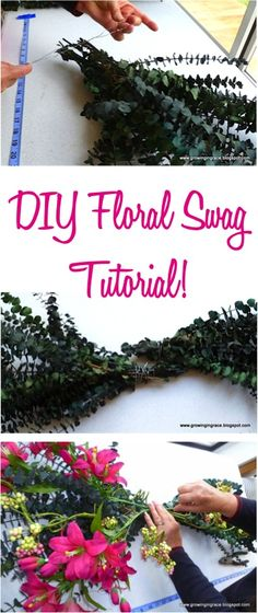 DIY Floral Swag Tutorial! {step by step instructions to make your own beautiful swags and flower arrangements!} | TheFrugalGirls.com