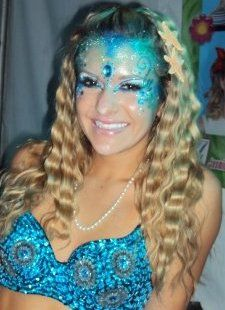 Face Painted Mermaid FacePainter Painting in Claremont, La Verne, Upland, Rancho Cucamonga, Montclair, SanDimas, Glendora, Azusa, Covina, ...