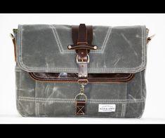 Waxed Canvas Messenger bag  handmade  CHARCOAL  от AlexMLynch