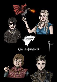Ilustración sobre la serie: Juego de Tronos.