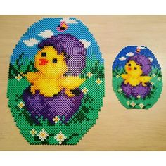 Easter egg hama midi/mini beads by joanvilladsen Hama Beads Patterns, Beading Patterns, Pearl Crafts, Beading For Kids, Peler Beads, Easter Flowers, Easter Cross, Melting Beads, Fuse Beads