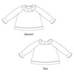 Blouse / Chemise de nuit à col pierrot (Patron couture Fille) | Patron couture Enfant | Atelier des Cigognes