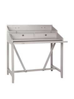 Pine wood writing desk with pull-out top.Product  Writing desk Construction  Material  Pine wood Color  Gray Features Folding topPull-out shelfTwo  center ... 89b3756890