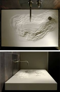 Bathroom Decor sink erosion waschbecken im bad schwarz design sple Modern Bathroom Sink, Modern Sink, Bathroom Sinks, Bathroom Black, Sink Faucets, Bathroom Cabinets, Basins, Modern Bathrooms, Small Bathroom
