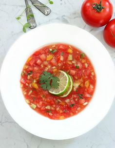 Watermelon Gazpacho with Lime | Simply Fresh Dinners