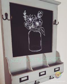Chalkboard Art- mason jar and flowers #chalkboard #chalkart #masonjar #flowers #rustic #sabrina.kay.design @sabrina.luke -instagram @sabrinakluke -Pinterest