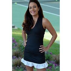 Smashing Golf & Tennis Diana Ruffle Skort Black/Blue Houndstooth | #Golf4Her