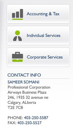 We Provides full service bookkeeping, estate planning, personal and corporate tax planning, business improvement and advisory services. Visit here : http://sameersomani.com/