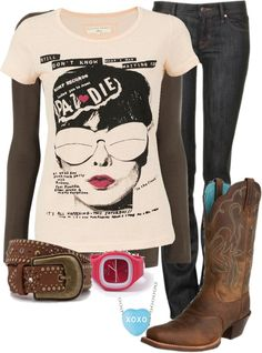 """""""Day at the Barn #4"""" by sunnykansas on Polyvore"""