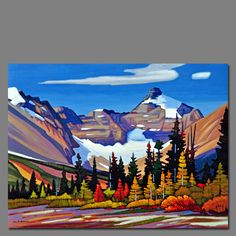Nicholas Bott I love all the colors in this one. Paintings I Love, Seascape Paintings, Acrylic Paintings, Canadian Painters, Canadian Artists, Landscape Art, Landscape Paintings, Mountain Art, Blue Mountain