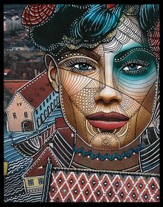 """Zentangle faces 