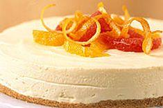 No-Bake Citrus Cheesecake Recipe - Kraft Canada use gluten free graham crumbs / no crust