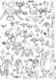 Sketch dbz 04 -muscular back- by DBZwarrior