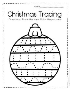Give little kids an opportunity to practice their fine motor skills with these free printable tracing Christmas preschool worksheets. Great for preschoolers & k Sensory Activities Toddlers, Art Therapy Activities, Kids Learning Activities, Educational Activities, Free Preschool, Preschool Worksheets, Preschool Crafts, Tracing Worksheets, Preschool Christmas