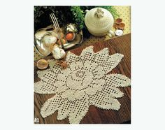 PDF Vintage 1970s 'Rose In Bloom' Lacy Filet Crochet Doily Crochet Pattern soo....Beautiful, Heirloom Prettyx