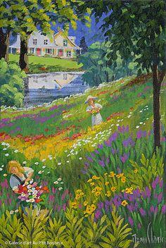 Rémi Clark, 'Ruisseau Jureux', x Art Gallery, Clark Art, Galerie D'art, Knife Painting, Naive Art, Colorful Paintings, Figurative Art, Les Oeuvres, Flower Art