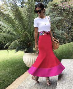 Fashion Outfits, Womens Fashion, Fashion Tips, Fashion Trends, Fashion Hacks, Skirt Outfits, Cute Outfits, Outfit Primavera, Hot Pink Fashion