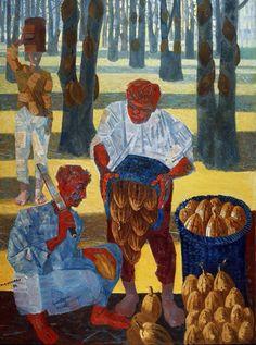 Candido Portinari, Colheita de Café, 1954.