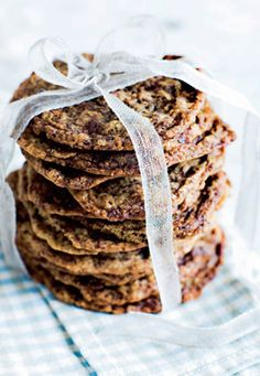 Cookies med havre og chokolade
