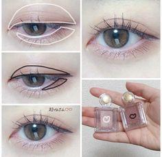 Makeup 101, Makeup Looks, Korean Eye Makeup, Eye Tutorial, Eye Make Up, Cosplay, Kpop, Poses, Hair Styles
