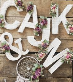 Dried Flower Letter https://www.etsy.com/ca/listing/509312267/wildflower-wooden-letter-floral-letter
