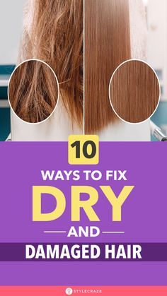 10 Awesome Ways To Identify And Fix Dry And Damaged Hair 10 Awesome Ways To Identify And Fix Dry And Damaged Hair Stylecraze stylecraze Hair Care 10 Awesome Ways To Identify nbsp hellip hair makeover Bleach Damaged Hair, Hair Mask For Damaged Hair, Damaged Hair Repair Diy, Hair Care Routine, Hair Care Tips, Damaged Hair Remedies, Dry Hair Remedies, Dry Brittle Hair, Healthy Hair Tips