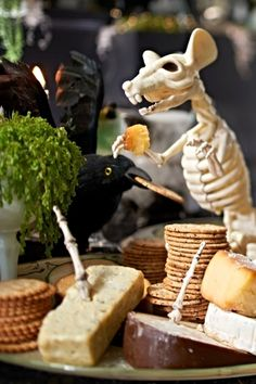 Who's the unexpected guest near your cheese plate? It's a Skeleton Rat, looking for a much-needed meal. Guests will LOVE it!