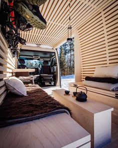 caravan decor 840062136730418944 - The Ryovan Project Campervan Hire, Campervan Interior, Caravan Decor, Airstream Decor, Caravan Bar, Caravan Ideas, Van Home, Modular Walls, Camper Van Conversion Diy