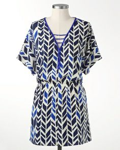 Beaded chevron tunic - [K16708] -- looks designed to go with Stella and Dot!  It's Coldwater creek beaded chevron tunic.