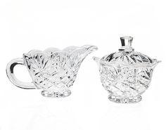Amazon.com | Godinger Silver Pineapple Crystal Sugar & Creamer Set: Cream And Sugar Sets: Cream & Sugar Sets