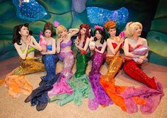 Pin for Later: 22 Group Disney Costume Ideas For Your Squad The Little Mermaid's Sisters