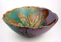 This beautiful Dock 6 Pottery bowl inspires giant summer salads!