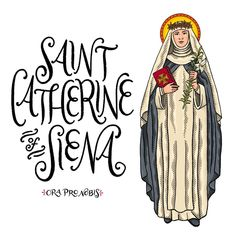 "Catholic Paper Goods on Instagram: ""Saint Catherine of Siena, ora pro nobis!! . . . . . . . . . . #orapronobis #saints #catholicsaints #catholicfaith #catholiccoloringpages…"""