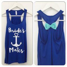 Brides Mates Bridal Party Tank Tops / by BridalBlissCouture