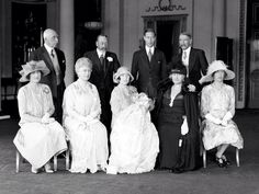 Historical day: The christening group of Princess Elizabeth of York (later Queen Elizabeth II) in 1926 Queen Mother, Queen Mary, Princess Mary, Prince And Princess, King Queen, Elizabeth Of York, Queen Elizabeth Ii, Reine Victoria, Queen Victoria