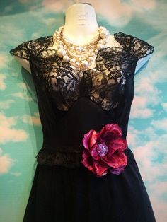 black lace & tulle sheer gothic bride wedding dress by mermaid miss k