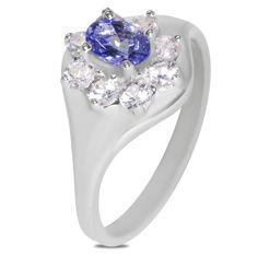 Etsy NissoniJewelry presents - Tanzanite and Created White Sapphire Ring 10k W/Gold    Model Number:FR8995-W0CWSTA    https://www.etsy.com/ru/listing/289130235/tanzanite-and-created-white-sapphire