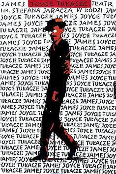 1990 JAMES JOYCE AU THEATRE. POLISH POSTER