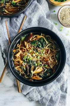 Easy Mushroom Ramen- just 10 ingredients and 30 minutes is all you need to make this cozy homemade ramen. (vegan, gluten-free + soy-free) Happy Halloween! Do you guys have any fun plans for the evening? We'll probably just hang at home like any other Tuesday night. Our new neighborhood has approximately zero children so I doubt …